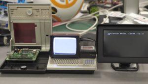 外部モニターにも表示できます。左はオリジナルのPasocomMini